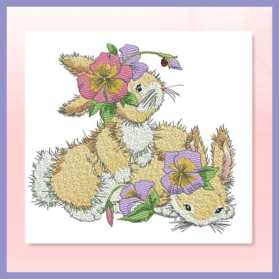 Flower Bunnies Set